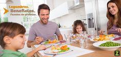 Las legumbres son verdaderas fuentes de energía y aportan proteínas de origen vegetal. Éstas permiten reparar y construir tejido; por ello, no hay que dejar de consumirlas.  También hay que tener en cuenta los productos de soya, ya que aportan muchas proteínas y muy pocas calorías.  Integra legumbres a su alimentación para obtener proteínas similares a las que nos proporciona la carne, y para aprovechar todos sus nutrientes.