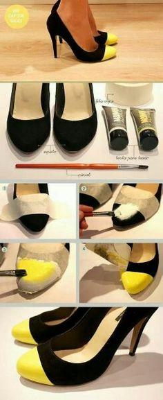 e70bc84bb1f4 Schuhe verschönern Schuhe Färben, Schuhe Selber Machen, Schuhe Neu  Gestalten, Mode Zum Selbermachen