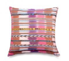 Fuchsia Jaspe Pillow Cover . In Guatemala and Mexico jaspe (pronounced hahs pay) with many varying designs, is what ikat is in other countries.