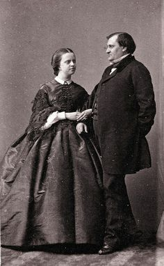 Prince Napoleon & Princess Clotilde of Savoy, ca 1860 |