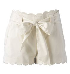 white scalloped shorts. Love.