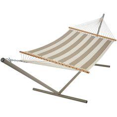 Pawleys Island Regency Sand Large Quilted Sunbrella Fabric Double Hammock - QRD02
