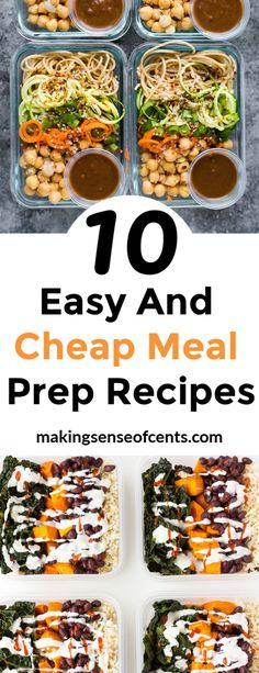 Vegetarian Meal Prep, Lunch Meal Prep, Easy Meal Prep, Healthy Meal Prep, Meal Prep Cheap, Cheap Healthy Meal Plan, Meal Preparation, Healthy Weight, Affordable Healthy Meals