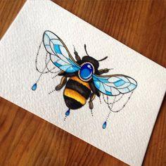 Jeweled Bumble bee! sarahpetersart