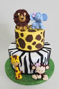 Baby shower ideas for boys cakes jungle safari 70 Ideas for 2019 Jungle Safari Cake, Jungle Birthday Cakes, Jungle Theme Cakes, Safari Baby Shower Cake, Animal Birthday Cakes, Safari Cakes, Animal Cakes, Safari Party, Baby Shower Cakes