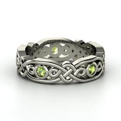 14K White Gold Ring with Green tourmaline $790 from Gemvara.com. Love it.