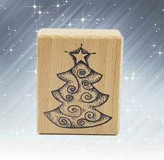 Motivstempel  Stempel Weihnachtsbaum ca:35 x 35 mm  Basteln Kartengestaltung