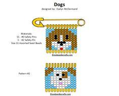 dogs.gif 720×581 pixels Safety Pin Art, Safety Pin Crafts, Safety Pins, Safety Pin Bracelet, Safety Pin Jewelry, Bead Loom Patterns, Beading Patterns, Cross Stitch Patterns, Pony Bead Crafts