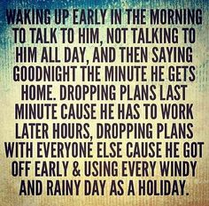 Farm wife! I live for rainy and snow days !!! That means the hubby is home !!!