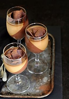 No Bake Dessert | Dark Chocolate Cream with Coffee Panna Cotta #dessertinglasses #glutenfree - Passionate About Baking