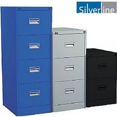 Capacity Per Drawer, Drawer Extension, 10 Year Guarantee. Foolscap And Cabinets in 22 Colours Filing Cabinets, Colours, Storage, A4, Drawer, Metal, Home Decor, Purse Storage, Decoration Home