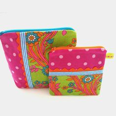Vintage Fabric Patchwork Zip Purse Set of Two  by madebylisajane, £19.90
