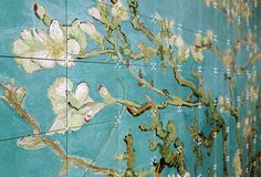 Close-up of an IXXI wall decoration made with Van Gogh's painting, the 'Almond blossom'. #ixxi #ixxidesign