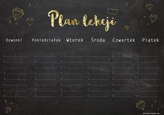 D E K O L A N D: Plan Lekcji 2016 School Planner, Back To School, Harry Potter, Study, Bts, How To Plan, Studio, Studying, Entering School