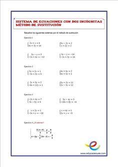 La hoja de ejercicios de matemáticas de Resolver Ecuaciones Lineales ...