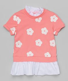 Another great find on #zulily! Pink Floral Tunic - Infant, Toddler & Girls by Leighton Alexander #zulilyfinds