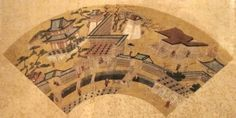 File:'View of Kyoto', fan painting by Kano Motohide, Japanese late 16th century, Honolulu Academy of Arts (2).jpg