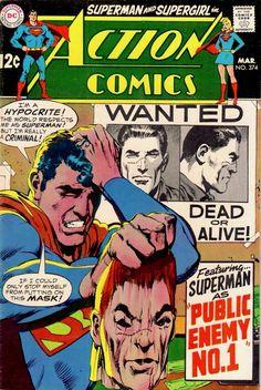 Action Comics 374 cover by Neal Adams Dc Comic Books, Comic Book Artists, Comic Book Covers, Superman Comic Books, Old Superman, Superman Action Comics, Superman Family, Batman, Marvel Comics
