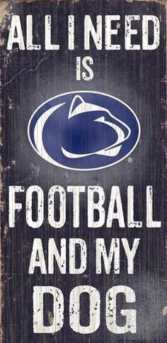 Penn State University Wooden Wall Art Sports and My Dog Sign