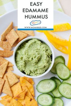 Healthy Edamame Hummus makes a satisfying, protein-packed dip. Serve it with fresh veggies, pita chips, or whole-grain crackers for a healthy snack. Healthy Dip Recipes, Healthy Dips, Baby Food Recipes, Kid Recipes, Homemade Velveeta, Recipes With Velveeta Cheese, Frozen Chicken Recipes, Chicken Nugget Recipes, Picky Toddler Meals