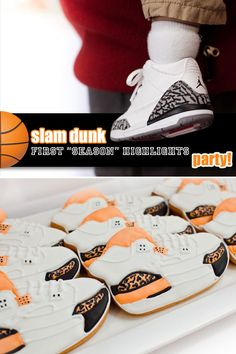 """""""First Season Highlights"""" basketball themed first birthday party by Coquette Events"""