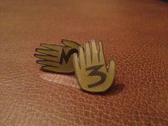 Gravity Falls Journal Earrings by TableOfTreachery on Etsy