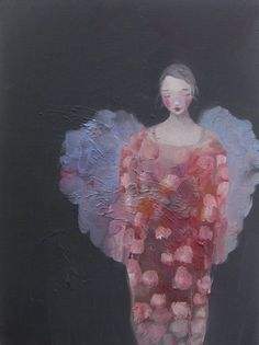 Kristin Vestgård I love what the angel is wearing. Angel Artwork, Angel Images, I Believe In Angels, Georges Braque, Modern Art, Contemporary Art, Figure Painting, Amazing Art, Art Drawings