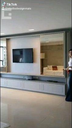 Tv Unit Furniture Design, Bedroom Furniture Design, Home Decor Bedroom, Bedroom Tv Wall, Modern Tv Room, Living Room Modern, Home Living Room, Modern Tv Wall, Living Room Wall Units