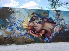 Eskat #art#streetart #mtynl #spraypaint#wall#woman#eskat