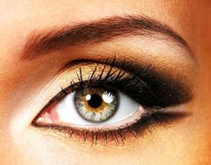 Did you know that gold actually looks amazing with hazel eyes