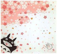 Totoro & Sho & Kurosuke Furoshiki - 95x95cm-   $80.00
