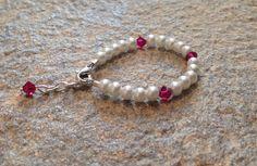 Baby bracelet Bracelet Infant Bracelet Pearl by PBandJLane on Etsy