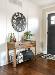 I've gathered 12 of my favorite large wall clocks if you're in need of wall decor for your own home. Farmhouse Wall Clocks, Modern Farmhouse Decor, Living Room Clocks, Living Room Decor, Wall Clock Design, Up House, Interior, Oversized Wall Clocks, Large Wall Clocks