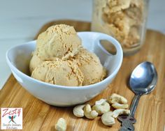 Caramel Cashew Ice Cream everything made from scratch, delicious nutty cashews gives crunch.  #caramelicecream