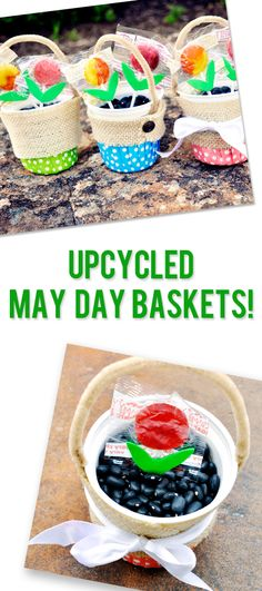Upcycled Craft: May Baskets - Upcycled Crafts Cup Crafts, Easter Crafts For Kids, Craft Stick Crafts, Diy Craft Projects, Diy And Crafts, Craft Ideas, School Projects, Fun Ideas, Creative Ideas