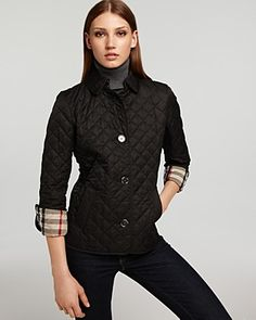 Burberry Brit Ashurst Classic Modern Quilted Jacket | preppy ... : quilted burberry coat - Adamdwight.com