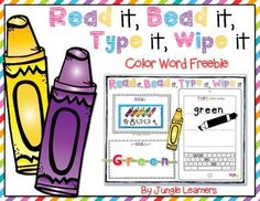 This is your chance to try out my Read it, Bead it center for FREE!!! This is a fun literacy center color word FREEBIE for anytime of the year that will definitely help keep your students engaged.There is 1 board included. Just print it out and either laminate or place in a write and wipe pocket folder.