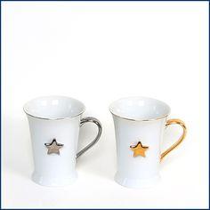 NEU NEU NEU: Es wird #kalt, heißer #Kakao mit Schuss muss her. Gerne in den hübschen #Tassen STELLA im 2er Set mit #Sternen. Ein #Becher ist #silber, einer #gold. Ab sofort erhältlich im #Feingefühl #Onlineshop: http://feingefühl-shop.de/haus-und-hof/kueche/688/tassen-stella-2er-set