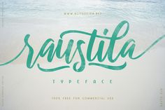 Raustila Script Free Font is a simply stunning handlettering font by Alit Design. This font is a perfect epitome of simplicity Script Typeface, Hand Lettering Fonts, Handwritten Fonts, All Fonts, Typography, Type Fonts, Free Typeface, Free Fonts Download, Font Free