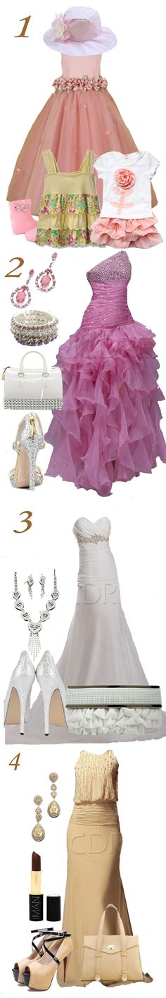 #3 looks nice ... And #4 could work as a formal dress too