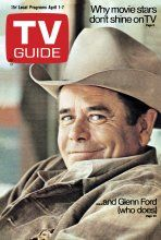 April 1972 - Why movie stars don't shine on TV.and Glenn Ford (who does) Classic Movie Stars, Classic Tv, Movie Photo, Movie Tv, Glen Ford, 3 10 To Yuma, History Of Television, Old Hollywood Movies, Old Tv Shows