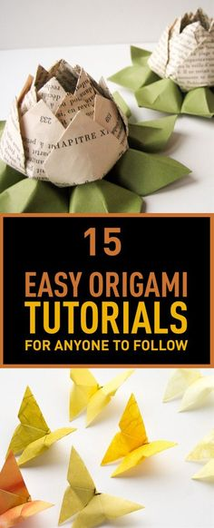 15 Easy Origami Tuto