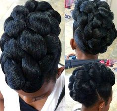 40 Cute Updos for Natural Hair