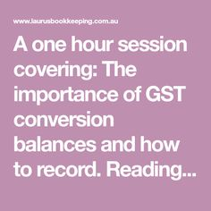 A one hour session covering: The importance of GST conversion balances and how to record. Reading and understanding the Xero GST Reconciliation Report Publishing Activity Statements in Xero, including historical statements and dealing with amendments. General troubleshooting - My GST Report doesn't balance - where do I start looking?