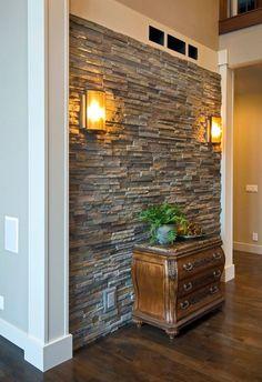 30+ Beautiful Stone Veneer Wall Design Ideas