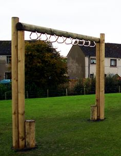 Monkey Ladder Rings...would be such a great addition to the playscape