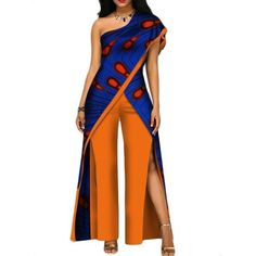 2017 new autumn African jumpsuit for women sexy off shoulder Jumpsuit dashiki clothing batik wax printing pure cotton African Fashion Designers, African Print Fashion, African Fashion Dresses, Fashion Outfits, African Outfits, African Clothes, Fashion Ideas, Africa Fashion, Fashion Styles