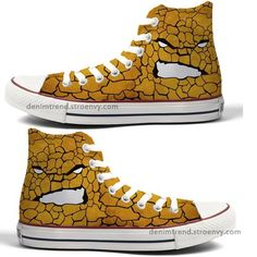 Marvel Custom Converse -The Thing! Hand painted custom shoes for every fandom , dc comics , marvel, nerdy stuff and what ever you like  can be painted