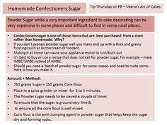 Homemade confectioner sugar