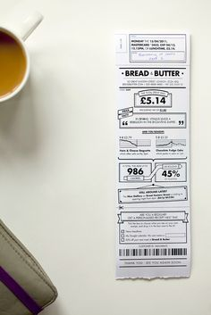 Rethink the receipt  Receipt design is pretty darn lame. Talk about utilitarian and meeting parity. But what if the design of the receipt was rethought, redesigned and reinvigorated? That's exactly what Berg Studio did.